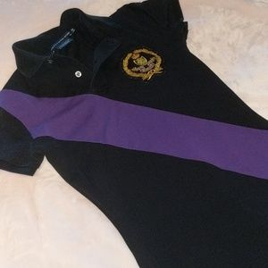 Purple and Black Polo Sport dress
